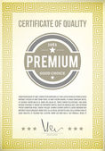Certificate of quality — Stock Vector