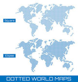 Dotted world maps — Stock Vector