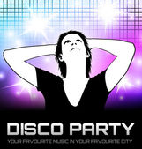Disco party poster — Stock Vector