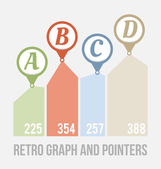 Pointers and graph — Vector de stock