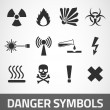 Danger symbols — Stockvectorbeeld