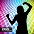 Disco poster with dancers — Stock Vector #25532717