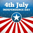 Independence day design — Imagen vectorial