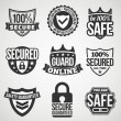 Security labels — Stock Vector #25533097