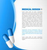 Blue capsule design — Stock Vector