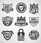 Security labels — Stock Vector