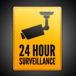 Surveillance sign — Stock Vector