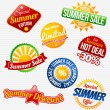 summer sale — Stock Vector