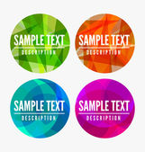 Abstract labels — Stock Vector