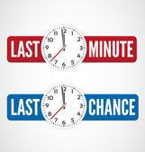 Last minute labels — Stock Vector