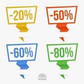 Paper Pointer set — Stock Vector
