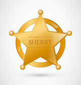 Gold Sheriff Badge — Stock Vector