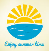 Summer time icon — Vector de stock