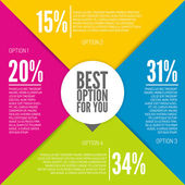 Colorful infographic design — Stock Vector