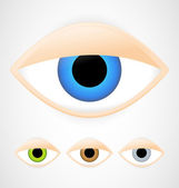 Set of eyes — Stock Vector