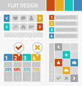 Flat design kit — Stock Vector