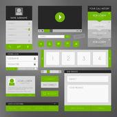 Flat design kit — Stock Vector