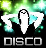 Disco partij poster — Stockvector