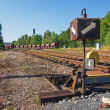Old rusty Railroad switch — Stock Photo