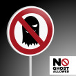 Sign no ghost allowed — Stock Vector