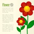 Flower card — Stockvectorbeeld