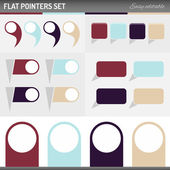Flat pointers — Stock Vector