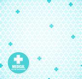 Blue medical pattern — Stock Vector