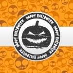 Halloween label — Stock Vector