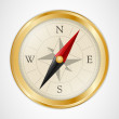 Golden Vintage Compass — Stock Vector