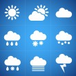 Meteorology icons — Stock Vector