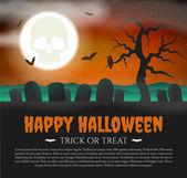 Halloween Card with gravestones — Stock Vector