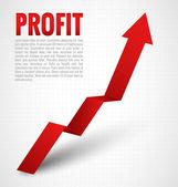 Profit Arrow — Stock Vector
