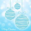 Christmas baubles — Stock Vector #31804485