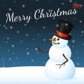 Muñeco de nieve navidad — Vector de stock