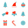 Christmas icon — Stock Vector
