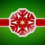 Christmas snowflake vintage card — Stock Vector