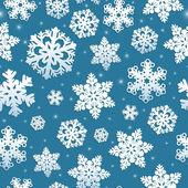 бесшовный фон снежинок — Cтоковый вектор