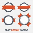Flat design Labels — Stock Vector