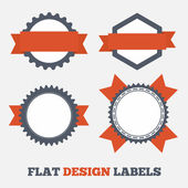 Flat design Labels — Wektor stockowy