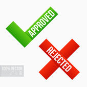 Approved and Rejected Marks — Stock Vector
