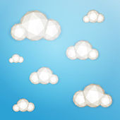 Low poly clouds — Stock Vector