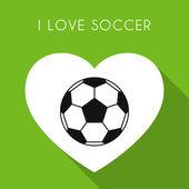 Green soccer background — Stock Vector