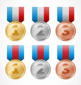 Star medals — Stock Vector