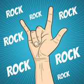 Rock hand  — Vector de stock