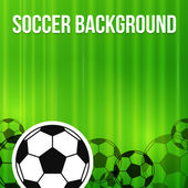 Green soccer background — Stock Vector