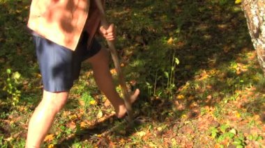 Garden work — Stockvideo