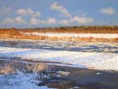 Rzeka, zimowego popołudnia — Zdjęcie stockowe