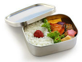 Bento, japanese boxed lunch — Stock Photo