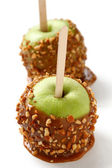 Caramel apple, taffy apple, candy apple, toffee apple — Stock Photo