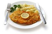 Wiener schnitzel, veal cutlet — Stock Photo